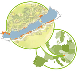 balaton karte Balaton: Karte der Region und der Ferienorte